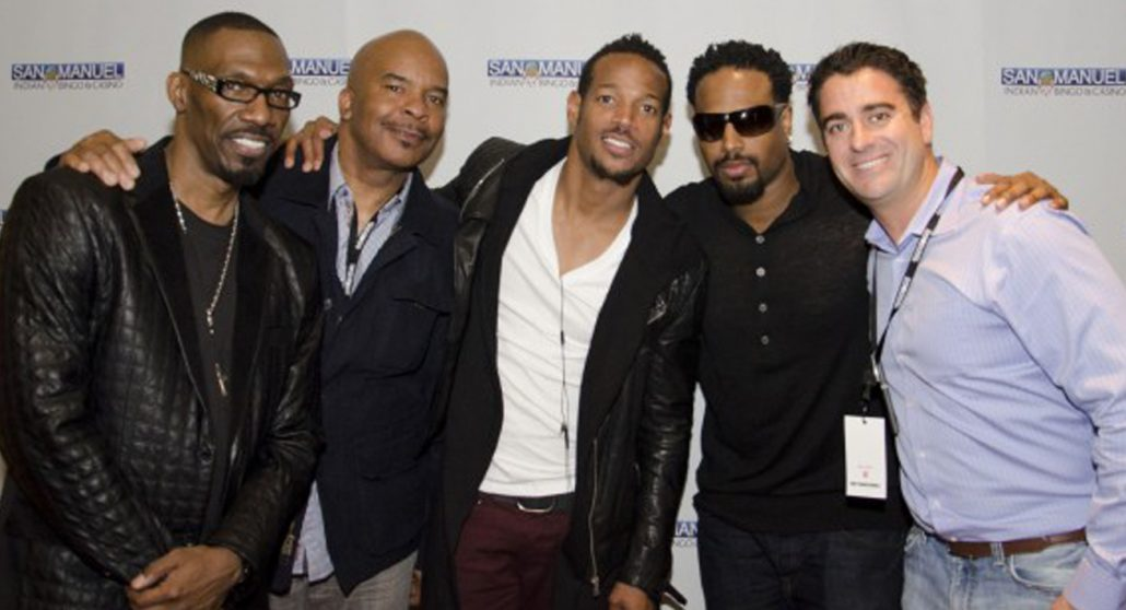 michael scafuto with the wayans bros david alan grier charlie