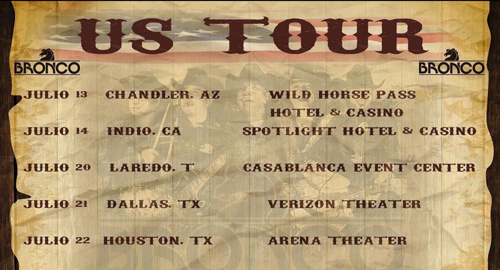 Bronco tour dates